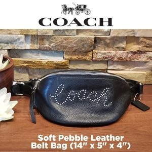 NEW Coach Pebble Leather Belt Bag w/ gift box